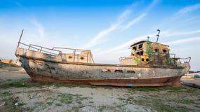 Skepp i öknen Arkivfoton