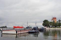 Skepp i Baltiysk, Ryssland Royaltyfri Fotografi