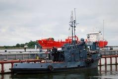 Skepp i Baltiysk, Ryssland Royaltyfria Foton