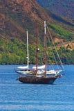3 skepp i havet Fotografering för Bildbyråer