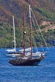 3 skepp i havet Royaltyfria Bilder