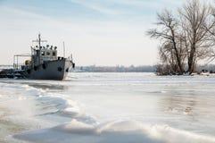 Skepp i isen Arkivbilder