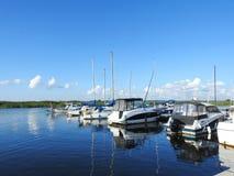 Skepp i marina, Litauen Royaltyfria Bilder