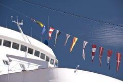 Skepp i port av Kiel Arkivbild