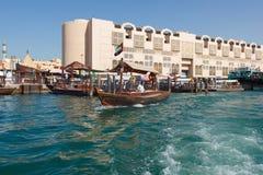 Skepp i Port Said i Dubai, UAE Royaltyfria Bilder