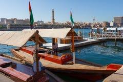 Skepp i Port Said i Dubai, UAE Arkivfoto