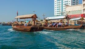 Skepp i Port Said i Dubai, UAE Royaltyfri Bild