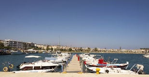 Skepp i porten av Rethymnon.Krete Royaltyfria Foton