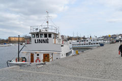 Skepp i porten av Stockholm Arkivbilder