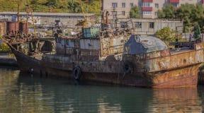 Skepp i skeppsdocka Arkivbilder