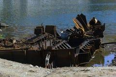 Skepp i skeppsdocka Arkivfoto