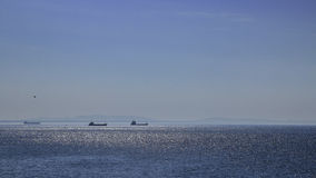 Skepp och hav Arkivfoto