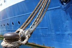Skepp och rep Royaltyfria Bilder