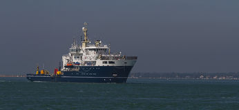 Skepp på öppet vatten Royaltyfri Fotografi