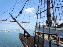 Skepp på Atlanten Arkivfoto