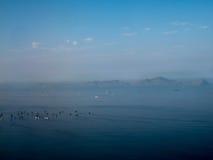 Skepp på den Lima fjärden i Peru Royaltyfri Fotografi