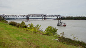 Skepp på Mississippi River arkivbilder