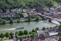 Skepp på Moselle Riber i Cochem Royaltyfri Bild
