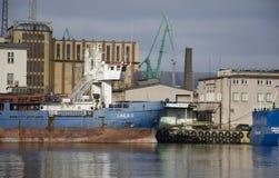 Skepp på porten av Gdynia Royaltyfri Foto