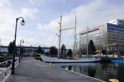 Skepp på porten av Gdynia Royaltyfri Fotografi
