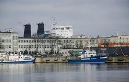 Skepp på porten av Gdynia Royaltyfri Bild