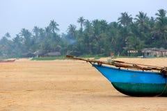 Skepp på stranden Arkivfoton