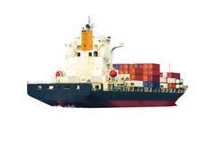 Skepp på vitbaksidajordning Arkivfoton