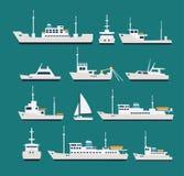 Skepp sänker uppsättningen vektor illustrationer