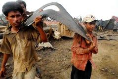 Skepp som bryter i Bangladesh Royaltyfri Foto