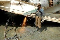 Skepp som bryter i Bangladesh Royaltyfri Bild