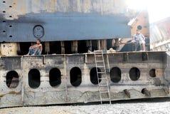 Skepp som bryter i Bangladesh Fotografering för Bildbyråer