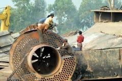 Skepp som bryter i Bangladesh Arkivfoto