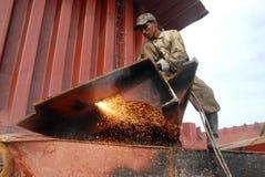 Skepp som bryter i Bangladesh Arkivfoton