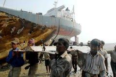 Skepp som bryter i Bangladesh Royaltyfri Fotografi