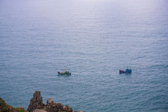 Skepp två i havet Arkivfoton