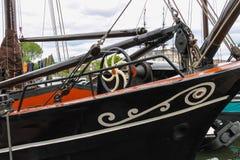 Skepp - utställningsNederländerna maritimt museum i Amsterdam arkivbilder