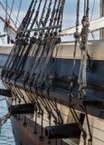 Skeppblock och kanoner arkivfoto