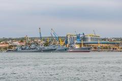 Skeppen av den ukrainska marinen arkivfoto