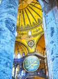 Skeppet av den Hagia Sophia moskén Istanbul Turkiet fotografering för bildbyråer