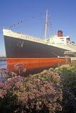 Skeppet för ½ för ¿ för drottningen Maryï för ï¿ ½ anslöt i Long Beach, Kalifornien arkivbild