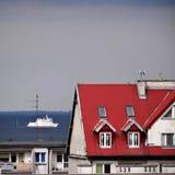 Skeppet i golfen av Gdansk Royaltyfria Foton