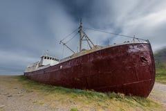 Skepphaveri, västra fjordar, Island Royaltyfria Bilder