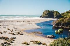 Skeppliten vik, Haast, västkusten, Nya Zeeland Fotografering för Bildbyråer