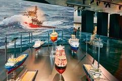 Skeppmodeller, miniatyrer Arkivbilder