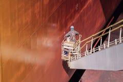 Skeppreparation i skeppsvarv Arkivfoto