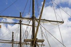 Skeppriggning och seglar Arkivfoton