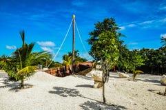 Skeppsbrott i Costa Maya Fotografering för Bildbyråer