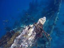 Skeppsbrott i havet Arkivfoto