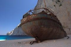 skeppsbrott zakynthos fotografering för bildbyråer