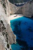 skeppsbrott zakynthos för strandgreece ö royaltyfri fotografi